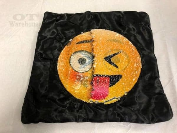 weighted cushion for anxiety cheeky face IMG 0383 nwb