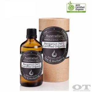 Bergamot Essential Oil (Non-Phototoxic) Certified Organic 100ml