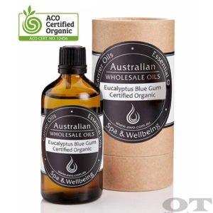 Eucalyptus Blue Gum Essential Oil Certified Organic 100ml