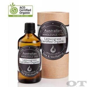 Lemongrass Essential Oil Certified Organic 100ml