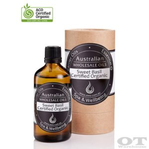 Sweet Basil Essential Oil Certified Organic 100ml