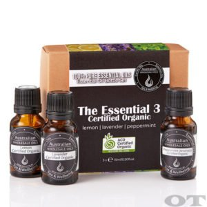 Essential Oil Pack - The Essential 3 Certified Organic